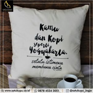 Sarung Bantal Custom uk 40×40 – Putih – Quotes Pillow