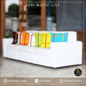 Sarung Bantal Sofa Uk 30×30-70×70 Motif List