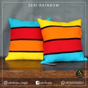 Bantal Sofa Uk 20×20-70×70 Motif Rainbow